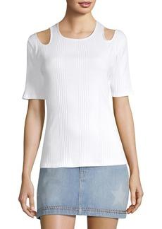 FRAME Open Shoulder Short-Sleeve Top