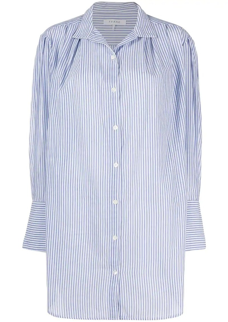 FRAME oversized pleated shirt dress