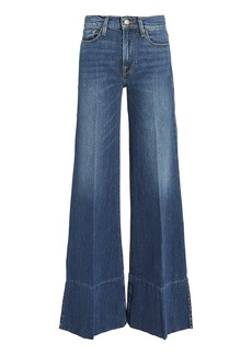 FRAME Palazzo Side Slit Hem Jeans