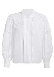 FRAME Panel Lace Button-Up Shirt
