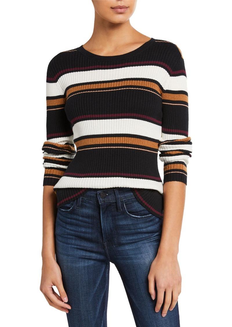 FRAME Panel Stripe Crewneck Sweater