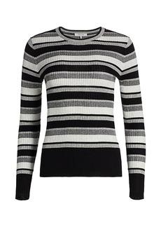 FRAME Panel Stripe Knit Top