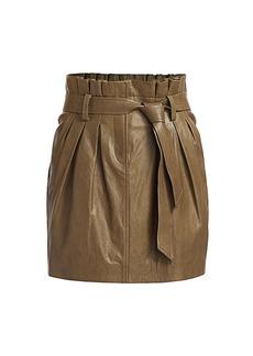 FRAME Paperbag Leather Skirt