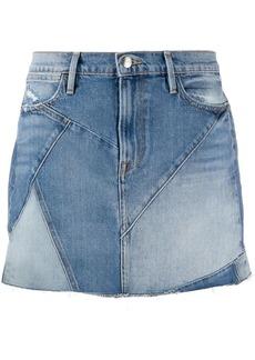 FRAME patchwork mini denim skirt
