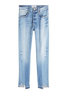 FRAME Patchwork Straight Cropped Jeans