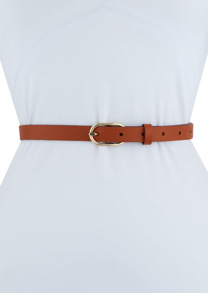 FRAME Petite Oval Buckle Leather Belt