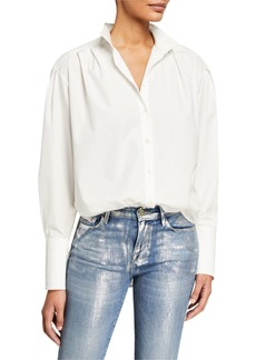 FRAME Pleated Clean Collared Shirt