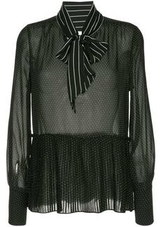 FRAME pleated peplum blouse