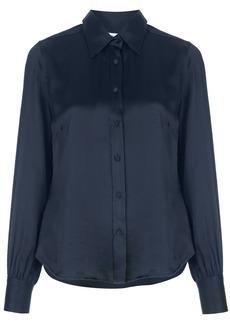 FRAME pointed collar silk shirt