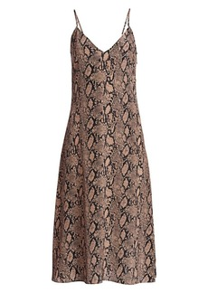 FRAME Python Print Silk Slip Dress
