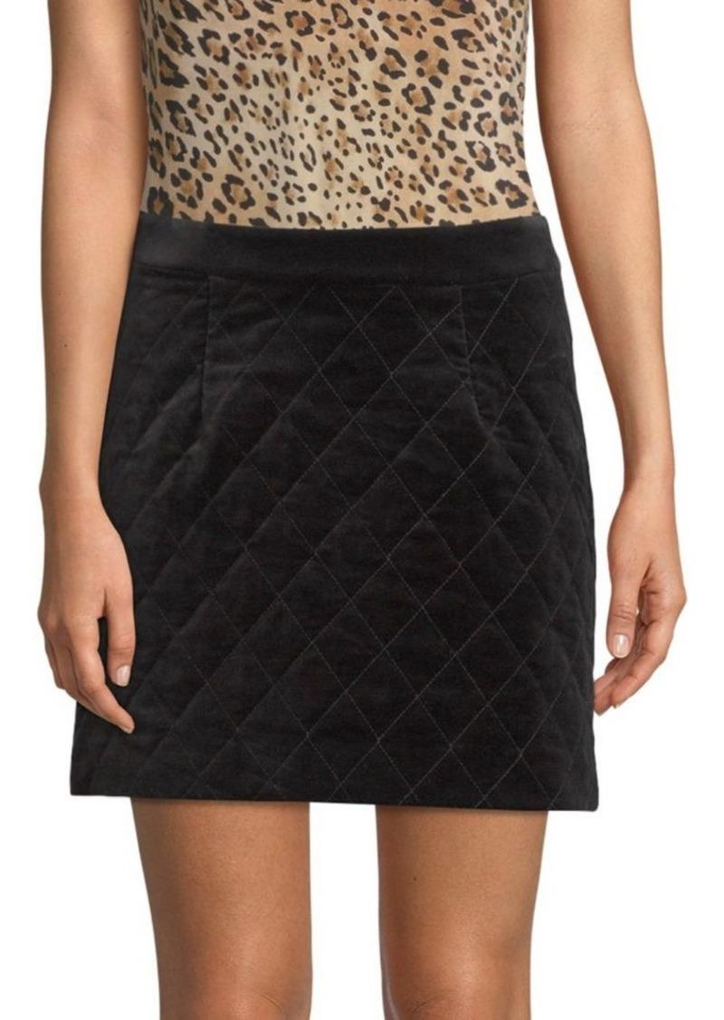FRAME Quilted Velvet Mini Skirt