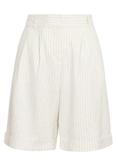 FRAME Relaxed Stripe Suiting Shorts