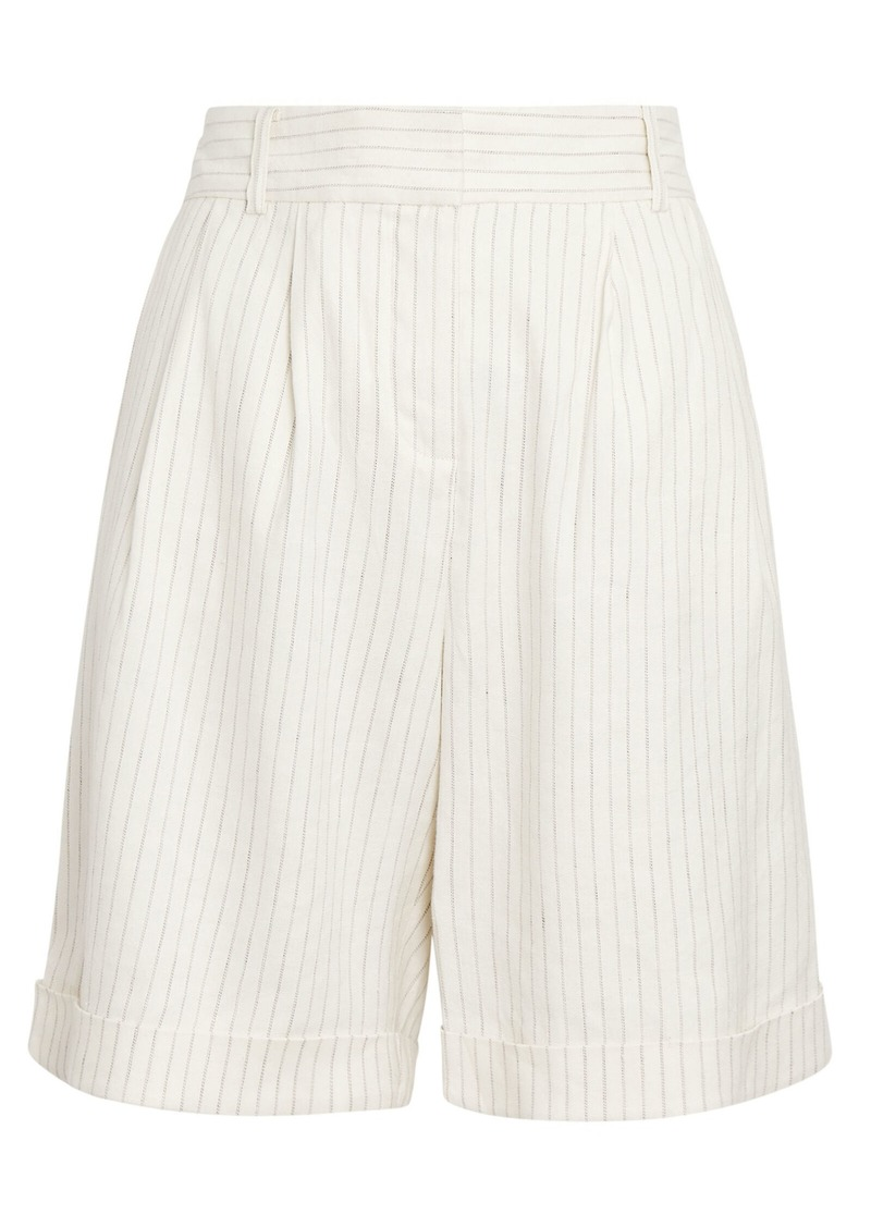 Relaxed Stripe Suiting Shorts
