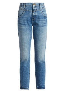 FRAME Retro V Yoke Straight Cropped Jeans