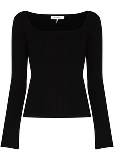 FRAME square neck knit top