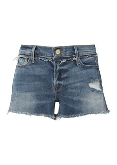 FRAME Rookley Frayed Trim Cut Off Shorts