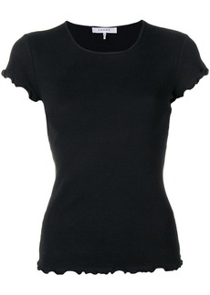 FRAME ruffle trim T-shirt