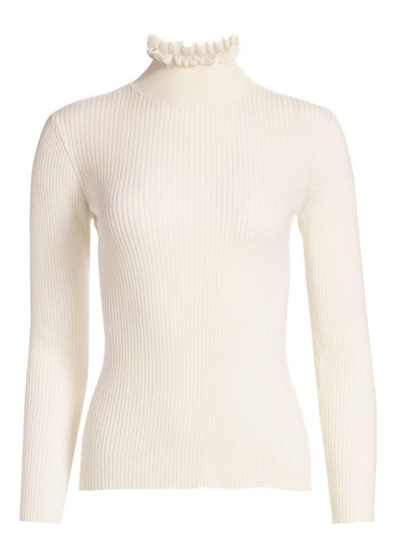 FRAME Ruffle Turtleneck Sweater