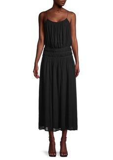 FRAME Ruffled Maxi Dress