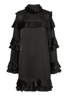 FRAME Ruffled Mini Silk Dress
