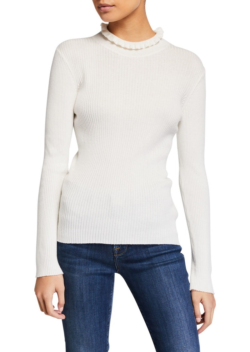 FRAME Ruffled Turtleneck Sweater