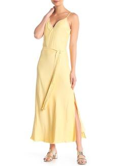 FRAME Satin Tie Sip Dress