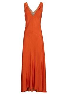 FRAME Savannah V-Neck Maxi Dress