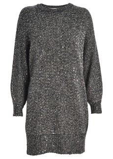FRAME Sequined Oversized Sweater Dress