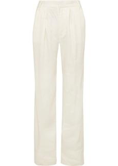 FRAME Service Linen-blend Wide-leg Pants