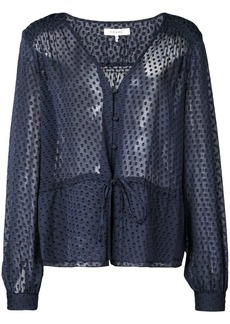 FRAME sheer dotted blouse