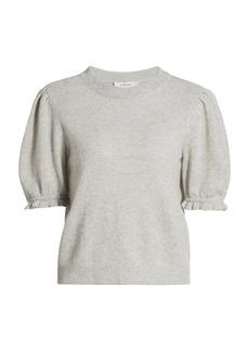 FRAME Shirred Short-Sleeve Sweater