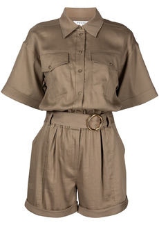 FRAME short-sleeve button-down playsuit