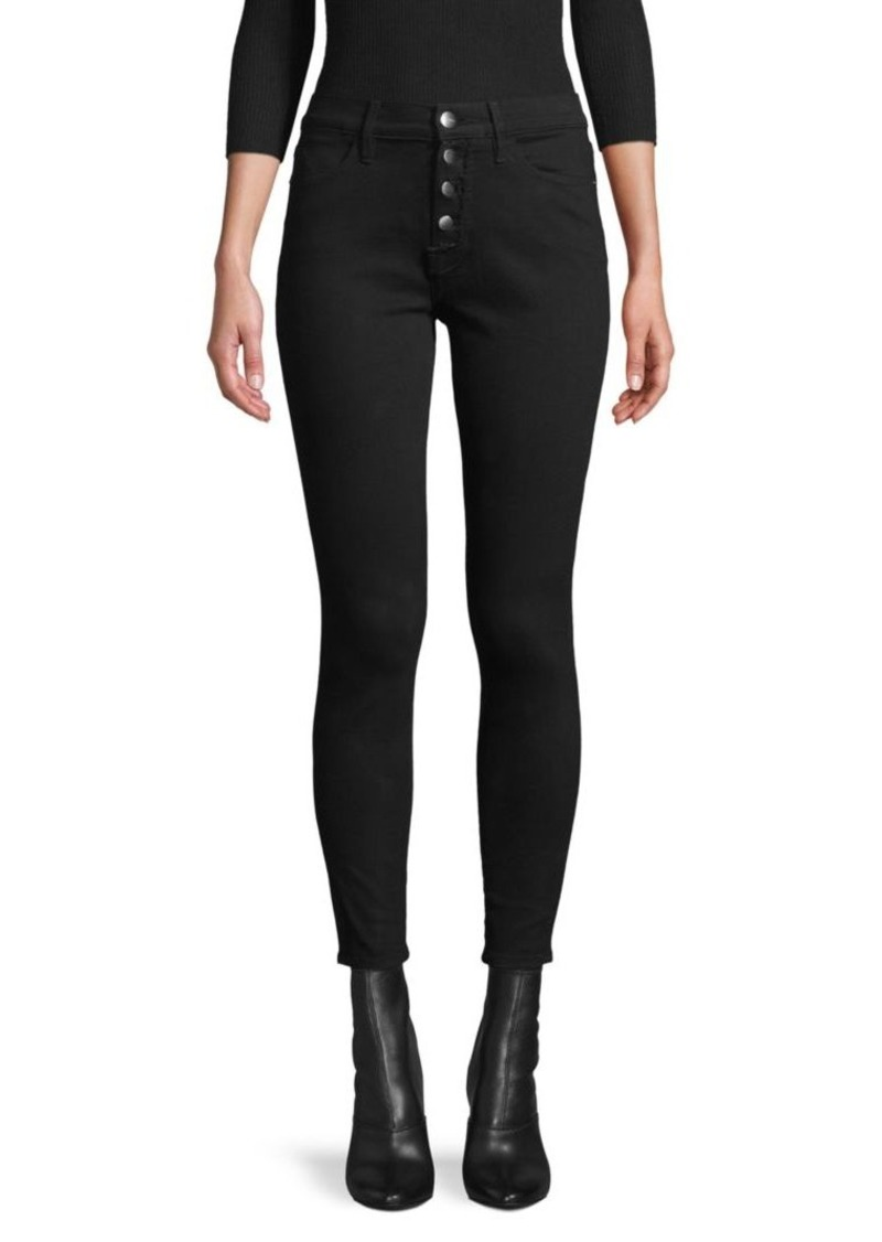 FRAME Skinny Cotton-Blend Cropped Pants