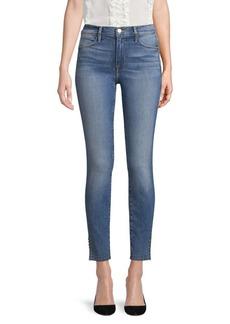 FRAME Le High Skinny Split Jeans
