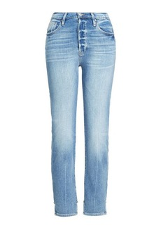 FRAME Slim Jeans with Stagger Detail