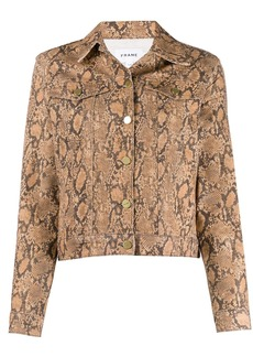 FRAME snakeskin-effect fitted jacket