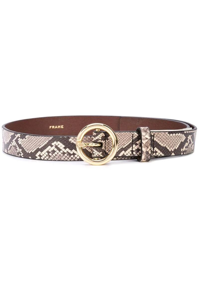 FRAME snakeskin print belt