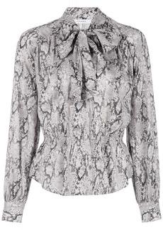 FRAME snakeskin-print silk shirt