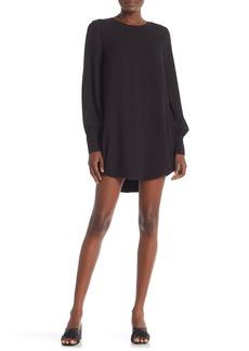FRAME Solid Long Sleeve Shift Dress