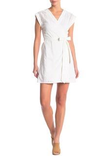 FRAME Solid Surplice Wrap Dress