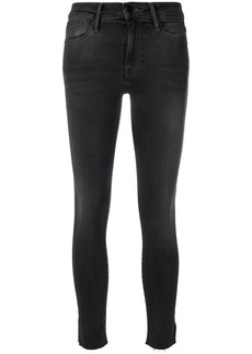 FRAME split hem skinny jeans