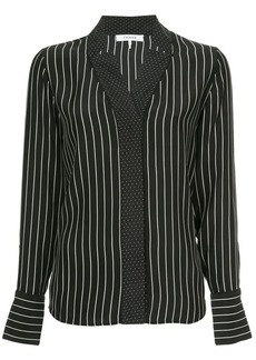 FRAME spot and stripe print blouse