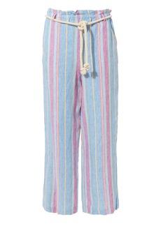 FRAME Stripe Linen Trousers