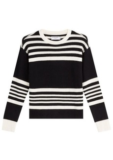 FRAME Striped Cashmere Pullover