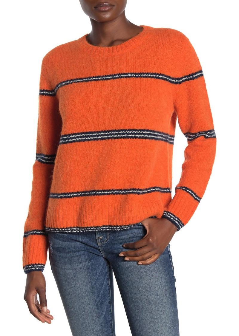 FRAME Striped Crew Neck Sweater