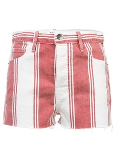 FRAME striped fitted shorts
