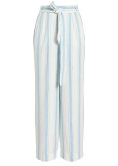 FRAME Striped Linen Pants