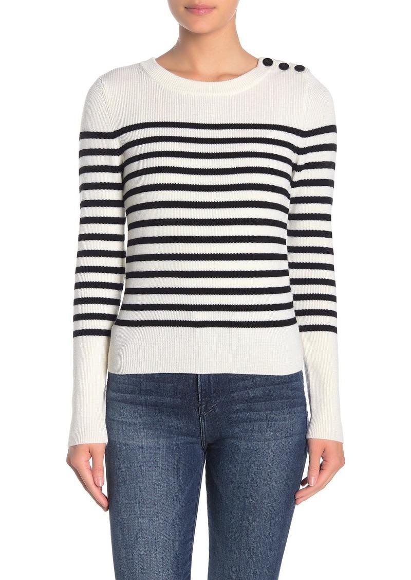 FRAME Striped Merino Wool Pullover Sweater