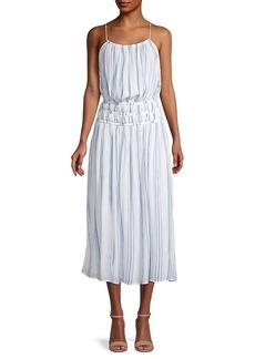 FRAME Striped Midi Dress