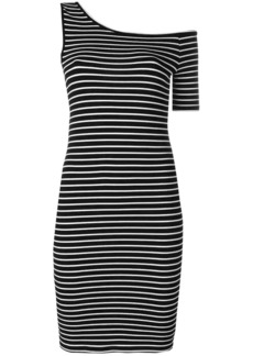 FRAME striped one-sleeve dress